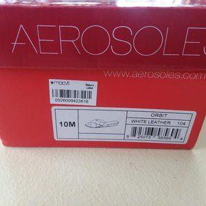 Sz 10 M Aerosoles Orbit Ivory Leather Slide Sandal
